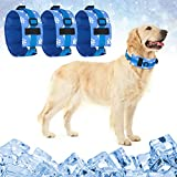 Dog Cooling Bandana Chill Out Collar - 3 Packs Pet Ice Cool Bandanas for Summer Breathable and Soft Scarf for Small Medium Large Dogs Puppy Cats