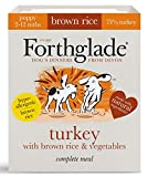 Forthglade 100% Natural Dog Food Puppy Complete Wet Dog food Turkey with Brown Rice and Vegetables 395 g (18 Pack)