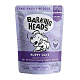 Barking Heads Wet Dog Food for Puppies - Puppy Days - 85% Natural, Grass-Fed Chicken with No Artificial Flavours, Grain-Free Recipe with Added Vitamins and Minerals (10 x 300 g)