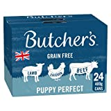 BUTCHER'S Puppy Wet Dog Food Tin Cans Grain Free 9.6kg (24 x 400g)