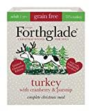 Forthglade Christmas Natural Grain Free Complete Wet Dog Food Turkey, Cranberry and Parsnip 7 x 395 g