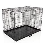COZY PET Dog Cage 42' Pink Metal Tray Folding Puppy Crate Cat Carrier Dog Crates Dog Cages. (We do not ship to the Channel Islands)