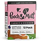 Pooch & Mutt - Wet Dog Food with Natural Ingredients - Grain Free, Complete & Fresh - Suitable for all Breeds & Sizes - Turkey & Chicken, 12 x 375g