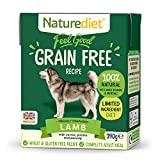 Naturediet - Feel Good Wet Dog Food, Natural and Nutritionally Balanced, Grain Free, Lamb, 390g (Pack of 18)
