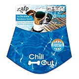 ALL FOR PAWS Chill Out Dog Cooling Bandana Summer Neck Wrap Breathable Neckerchief Pet Scarf - Medium - 38-46 cm