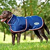 Weatherbeeta Parka 1200D Deluxe Dog Coat - Navy/Red/White - Size: 60Cm